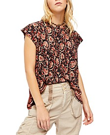 High Tide Printed Top