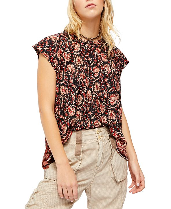 Free People High Tide Printed Top