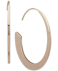 "Gold-Tone Medium Threader Hoop Earrings, 1.5"""