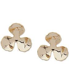 Gold-Tone Flower Stud Earrings