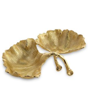 Michael Aram Gold Ginkgo Double Compartment Dish