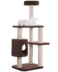 3-Level Carpeted Cat Tree Condo, Kitten Playhouse