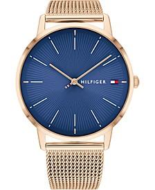 Women's Carnation Gold-Tone Mesh Bracelet Watch 40mm, Created for Macy's