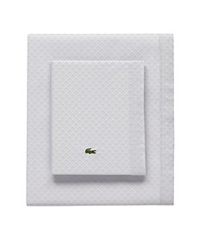 Lacoste Outlined Pique Queen Sheet Set
