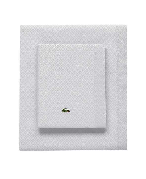Lacoste Home Lacoste Outlined Pique Queen Sheet Set
