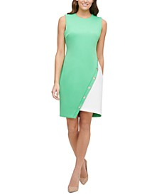 Colorblocked Scuba Dress