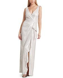 Sequined Surplice Gown