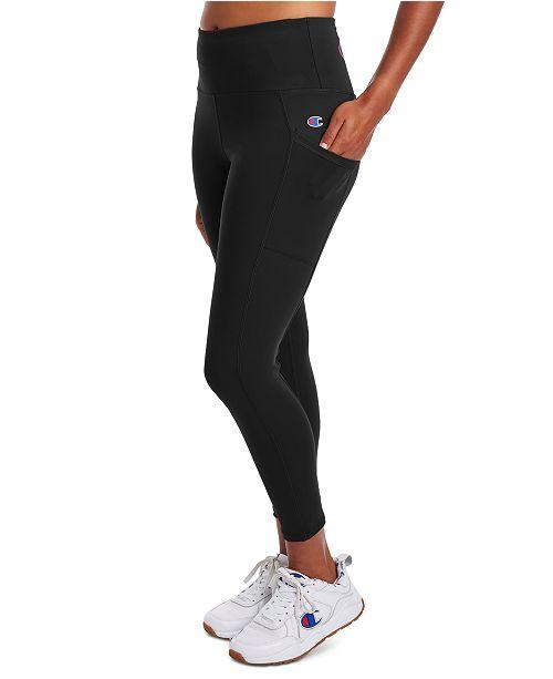 Champion Women's Double Dry Pocket Compression High-Waist Leggings