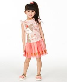 Little Girls Glitter Heart Tutu Skirt, Created for Macy's