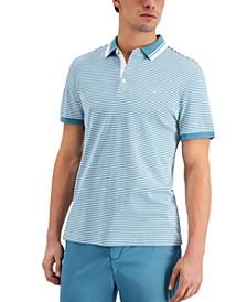 Men's Modern-Fit Feeder Stripe Polo Shirt