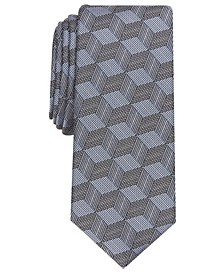 Men's Abstract Cube Necktie, Created for Macy's