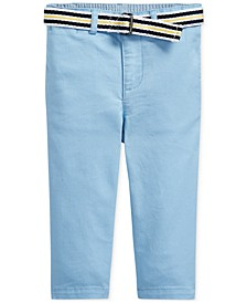 Baby Boys Belted Chino Pants