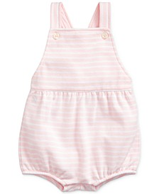 Baby Girls Striped Bubble Shortall