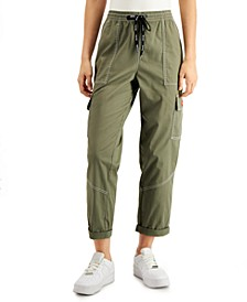 Juniors' Cropped Cargo Pants