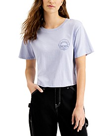 Juniors' Logo-Graphic Cropped T-Shirt
