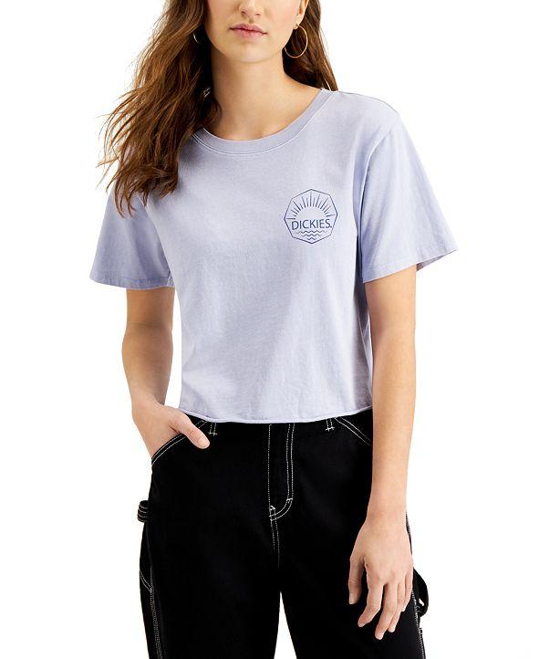 Dickies Juniors' Logo-Graphic Cropped T-Shirt