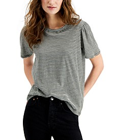 Stripe Puff-Sleeve T-Shirt