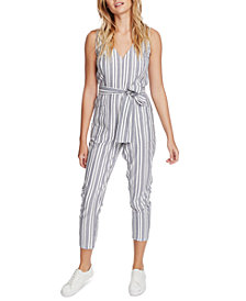1.STATE Striped Belted Jumpsuit