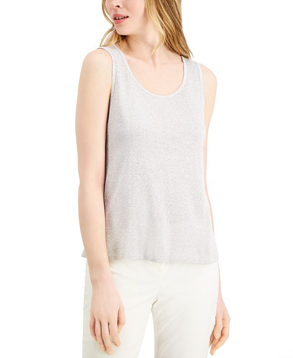Alfani Metallic Tank Top, Created for Macy's