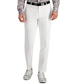 INC Men's Slim-Fit Stretch White Solid Suit Pants, Created for Macy's