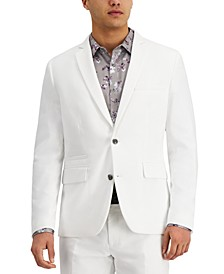 INC Men's Slim-Fit Stretch White Solid Suit Jacket, Created for Macy's