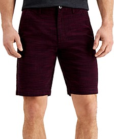 INC Men's Flat-Front Texture-Stripe Shorts, Created for Macy's