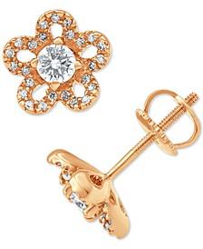 Diamond Flower Stud Earrings (3/8 ct. t.w.)