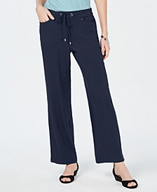 Crinkle Wide-Leg Pants,Created for Macy's