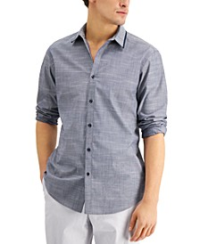 INC Men's Regular-Fit Textured Tipped Shirt, Created for Macy's