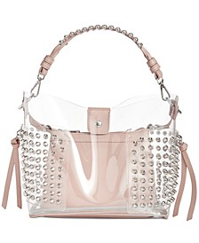 Radarr Clear Studded Bucket Bag