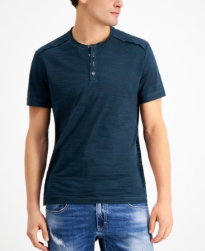 Inc International Concepts Men's Sheer Streaked Henley, Created for Macy's