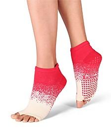 Women's Open Toe Grip Sock for Pilates Barre Yoga Anklet
