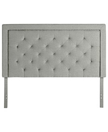 Upholstered Headboard with Diamond Tufting, Full