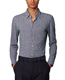 BOSS Men's Ronni_F Printed Slim-Fit Shirt