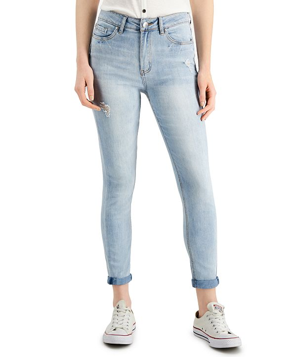 Almost Famous Cuffed Ripped Jeans