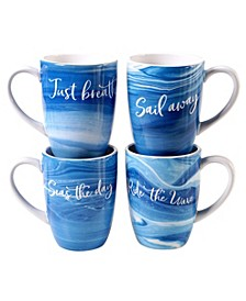 Fluidity 4-Pc. Mugs with Saying asst.