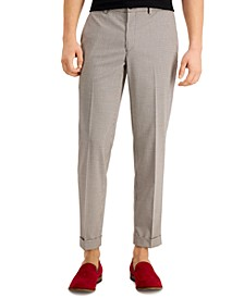 Men's Slim-Fit Stretch Cropped Dress Pants, Created for Macy's