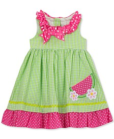 Little Girls Seersucker Watermelon Dress