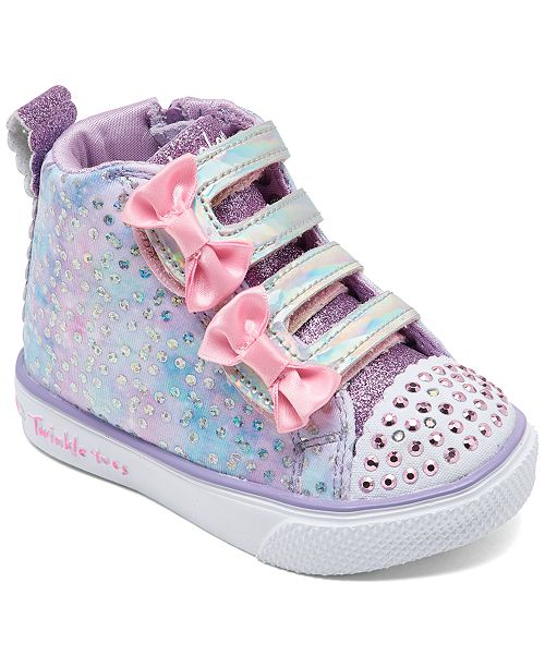 Toddler Girls Twinkle Toes Unicorn Bliss High Top Light Up Stay Put Closure Casual Sneakers from Finish Line