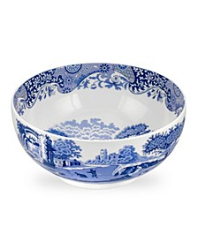 Blue Italian Deep Round Bowl