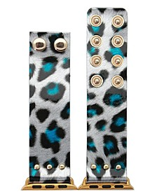 Glossy Leopard Snap Button Apple Watch Band