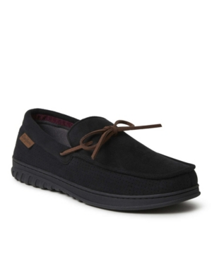 Men's Ethan Perforated Microsuede Moccasin Tie Slippers Men's Shoes