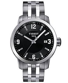 Watch, Men's Swiss PRC 200 Stainless Steel Bracelet 41x42mm T0554101105700