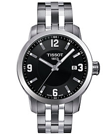 Tissot Watch, Men's Swiss PRC 200 Stainless Steel Bracelet 41x42mm T0554101105700