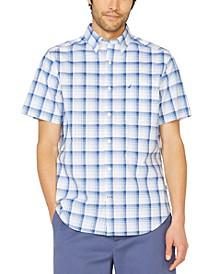 Men's Big & Tall Stretch Plaid Short Sleeve Shirt