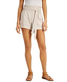 BCX Juniors' Paper-Bag Waist Shorts