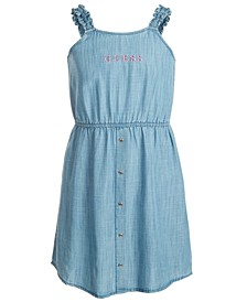 Big Girls Pinstriped Denim Tank Dress
