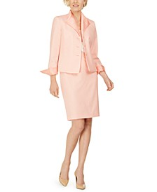 Wing-Collar Skirt Suit