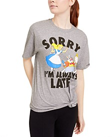 Juniors' Alice In Wonderland Graphic T-Shirt