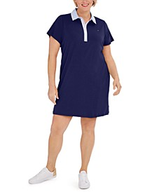 Plus Size Cornell-Trimmed Polo Dress, Created for Macy's